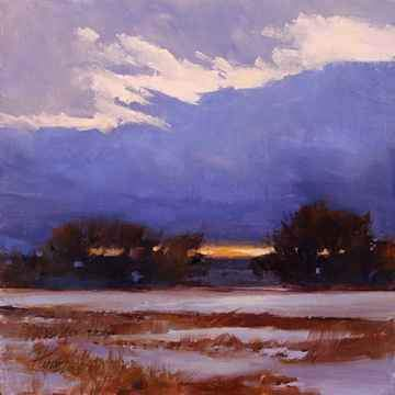 Peggy Immel-Sundown On Blue-Sorrel Sky Gallery-Painting
