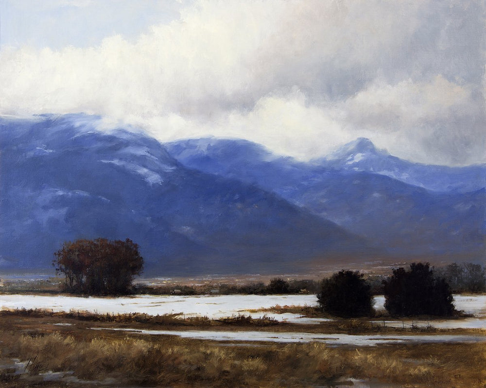 Winter Descending-Painting-Peggy Immel-Sorrel Sky Gallery