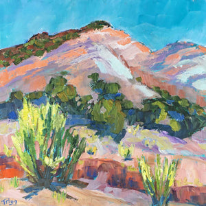 Peggy Trigg-Sorrel Sky Gallery-Painting-Brush in the Arroyo
