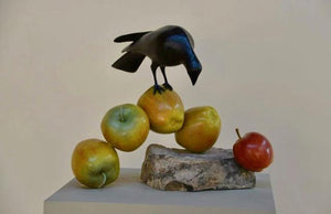 Peter Woytuk-Bird + 5 Apples-Sorrel Sky Gallery-Sculpture