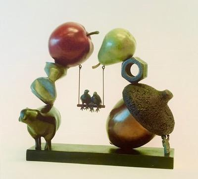 Peter Woytuk-Birds on a Swing-Sorrel Sky Gallery-Sculpture
