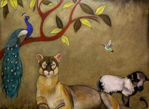 Phyllis Stapler-Sorrel Sky Gallery-Painting-A Peaceable Kingdom