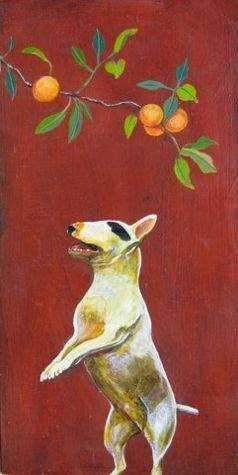 Phyllis Stapler-Sorrel Sky Gallery-Painting-Happy Dog