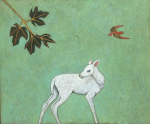 Phyllis Stapler-Sorrel Sky Gallery-Painting-Hunted Deer