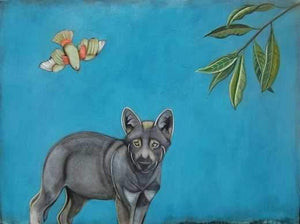 Phyllis Stapler-Sorrel Sky Gallery-Painting-Odd Eyed Puppy