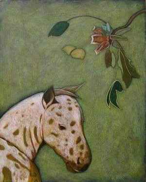 Phyllis Stapler-Sorrel Sky Gallery-Painting-Spotted Pony