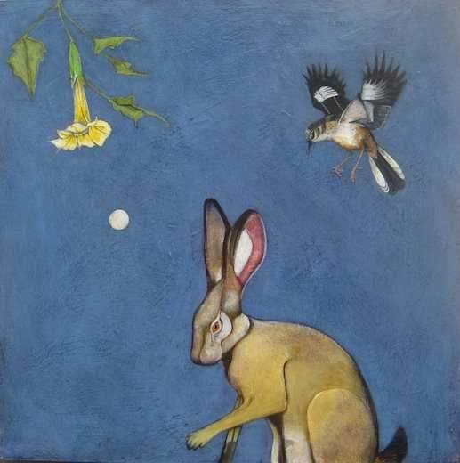 Phyllis Stapler-Sorrel Sky Gallery-Painting-The Moon Hare