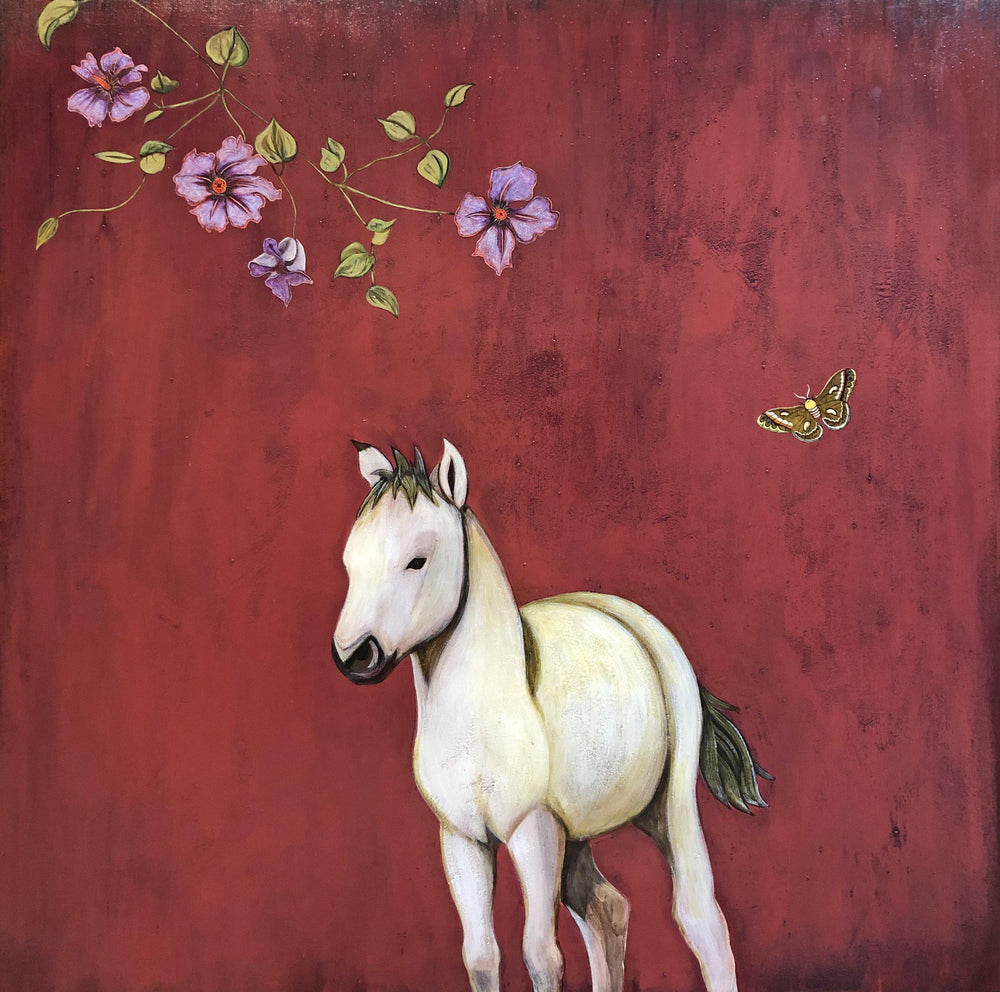 Phyllis Stapler-Sorrel Sky Gallery-Painting-White Pony