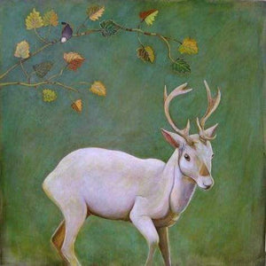 Phyllis Stapler-Sorrel Sky Gallery-Painting-White Stag