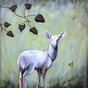 Phyllis Stapler-Sorrel Sky Gallery-Print-Startled Deer