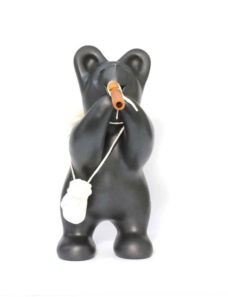 Black Bear with Flute and Cradleboard