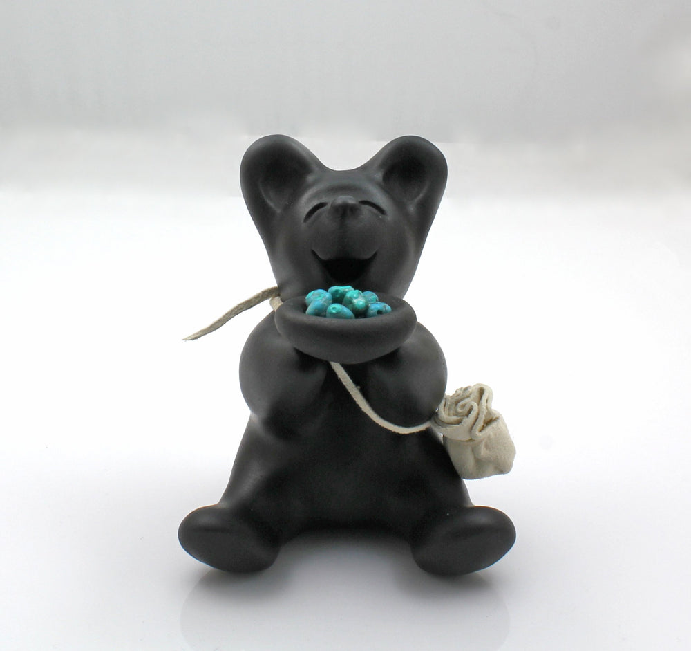 Mini Bear With Turquoise Offerings