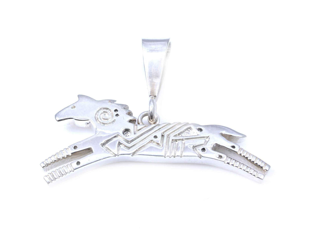 All Silver Horse Pendant