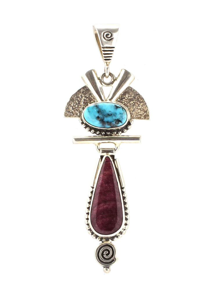 Ray Tracey-Apache Turquoise Pendant-Sorrel Sky Gallery-Jewelry