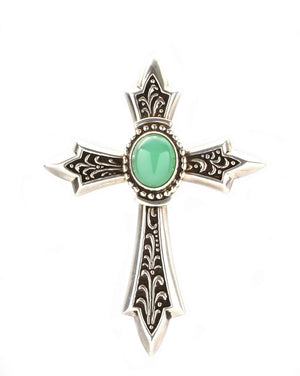 Ray Tracey-Chrysophase Cross Pendant-Sorrel Sky Gallery-Jewelry