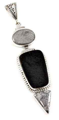 Ray Tracey-Gibeon Meteorite Cabochon Pendant-Sorrel Sky Gallery-Jewelry