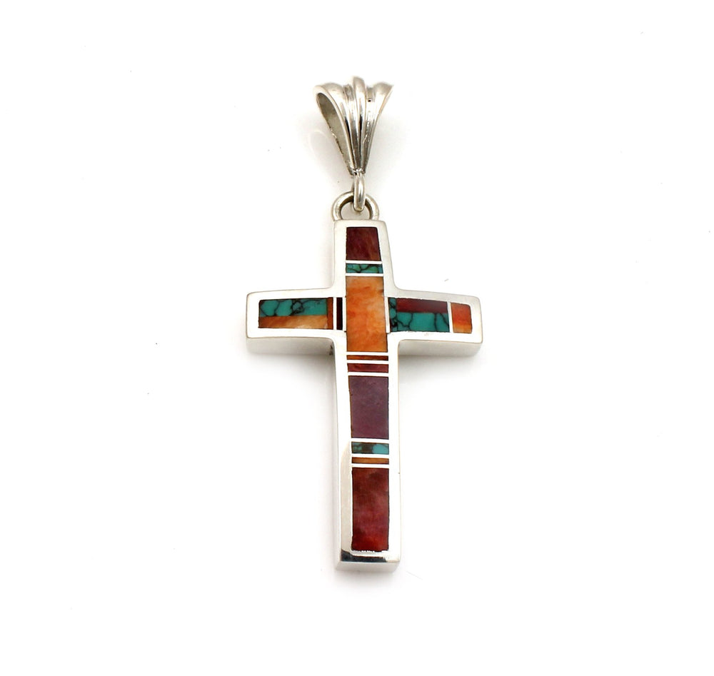 Inlaid Cross Pendant-Jewelry-Ray Tracey-Sorrel Sky Gallery