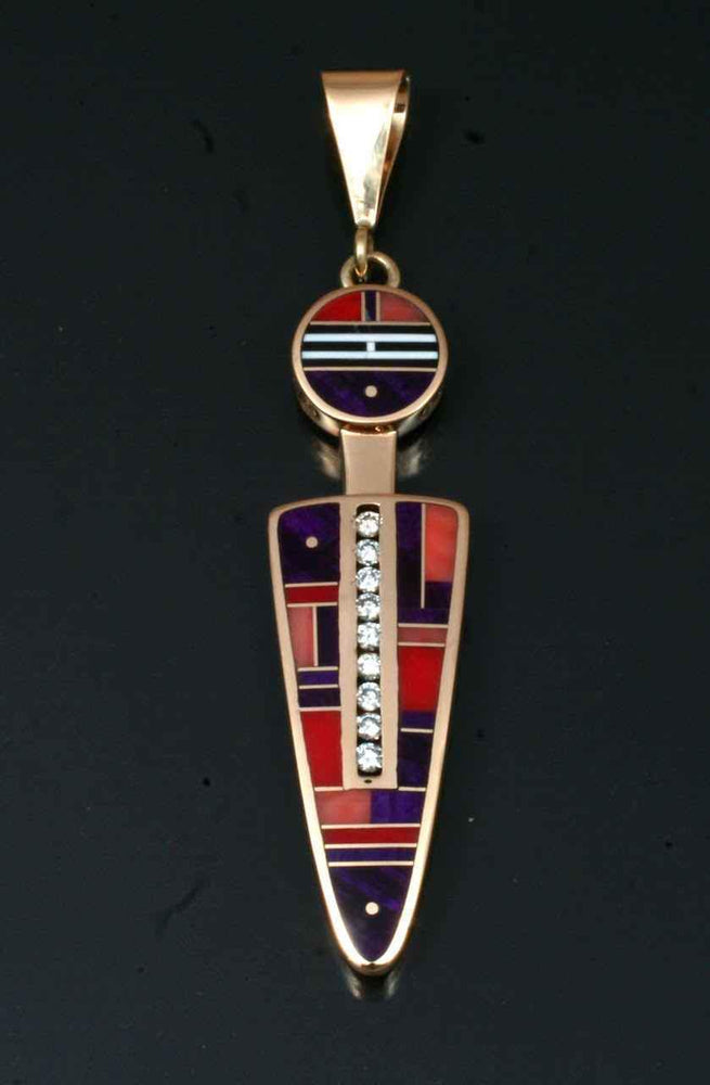 Inlaid Pendant With Diamonds