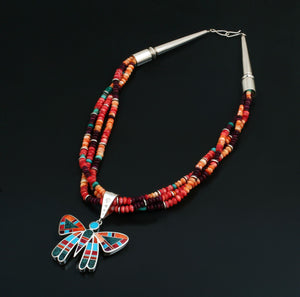 Inlay Butterfly Necklace-Jewelry-Ray Tracey-Sorrel Sky Gallery