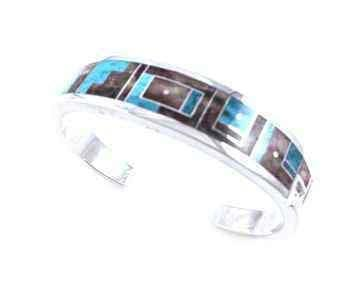 Ray Tracey-Inlay Cuff Bracelet-Sorrel Sky Gallery-Jewelry