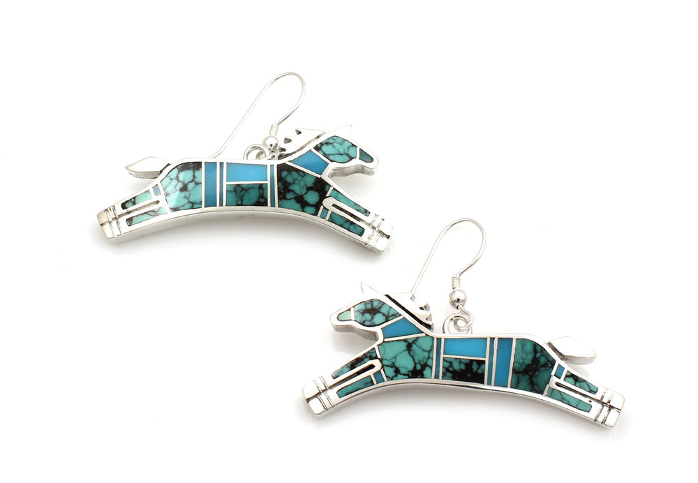 Inlay Horse Earrings-Jewelry-Ray Tracey-Sorrel Sky Gallery