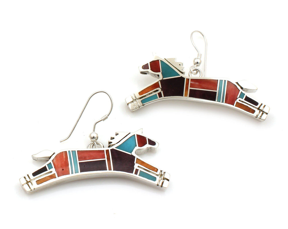 Inlay Horse Earrings
