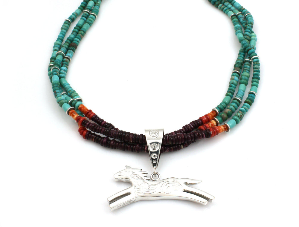 Inlay Horse Necklace