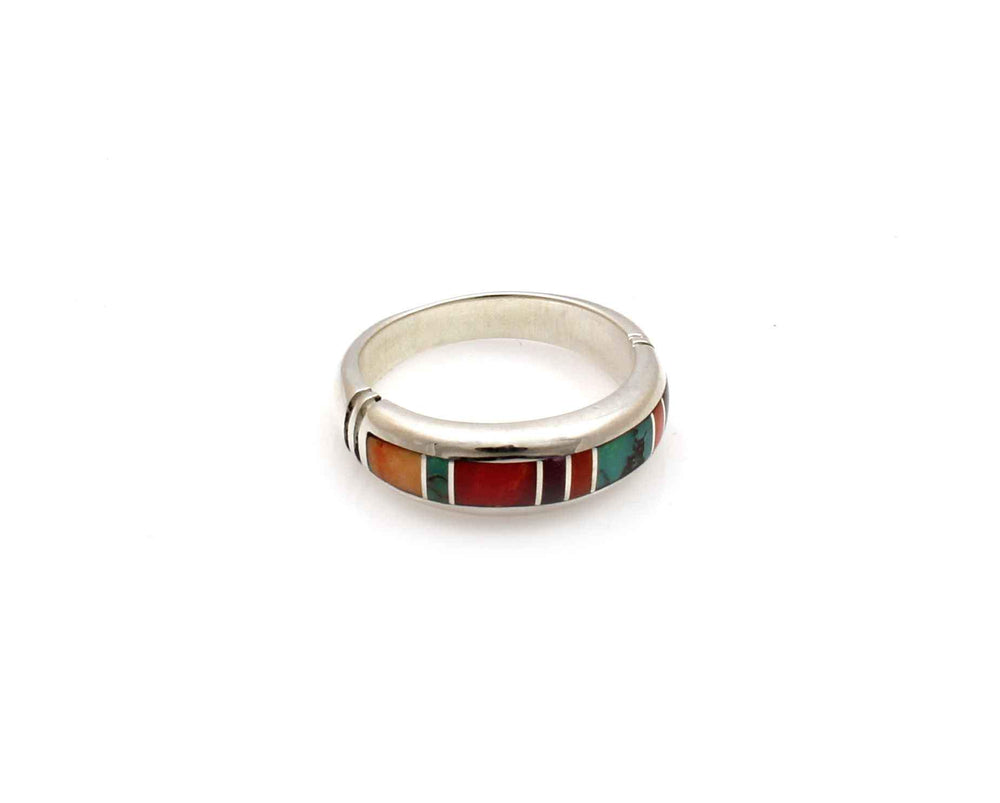 Inlay Narrow Band Ring-Jewelry-Ray Tracey-Sorrel Sky Gallery