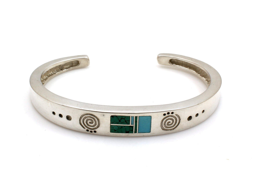 Inlay Narrow Cuff Bracelet