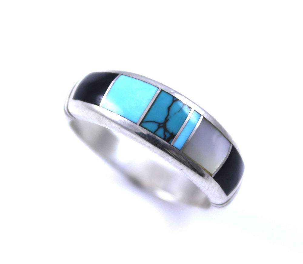 Ray Tracey-Inlay Wide Band Ring-Sorrel Sky Gallery-Jewelry
