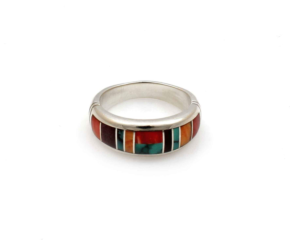 Inlay Wide Band Ring