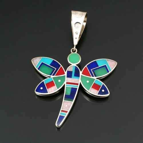 Ray Tracey-Large Dragonfly Pendant-Sorrel Sky Gallery-Jewelry