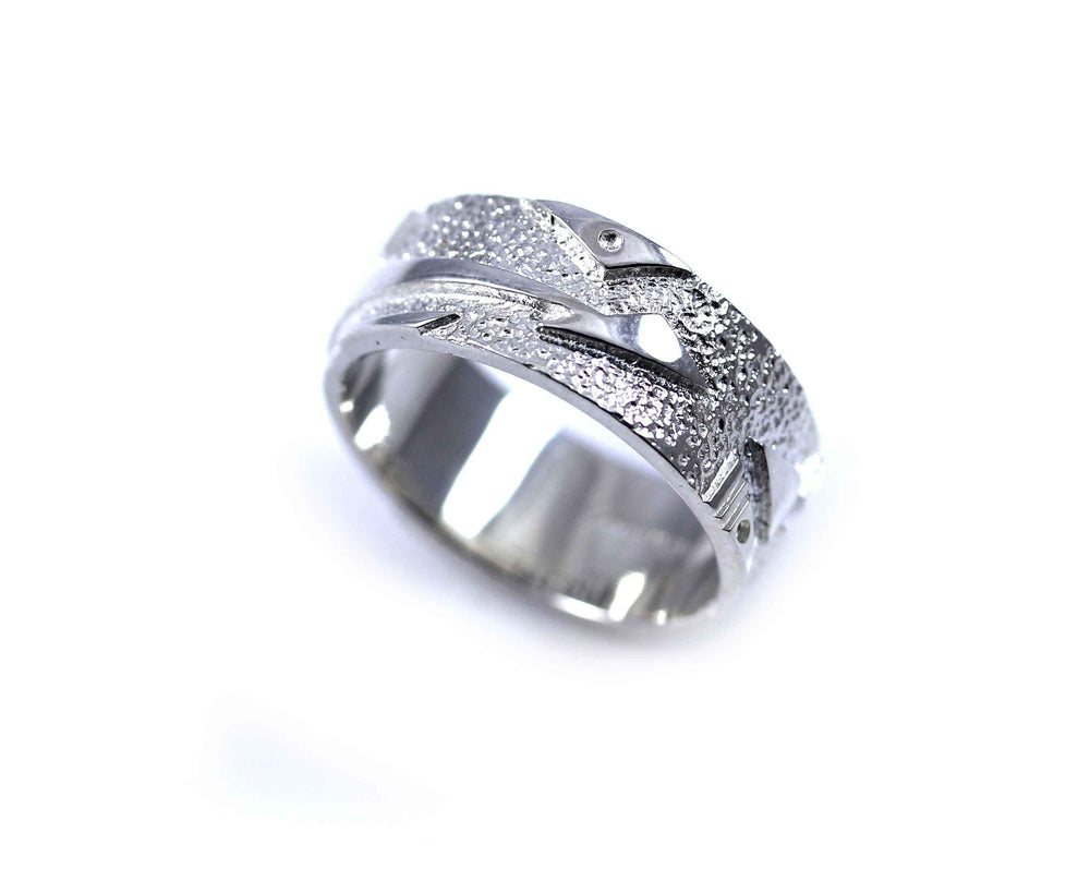 Lightning Arrow Band Ring