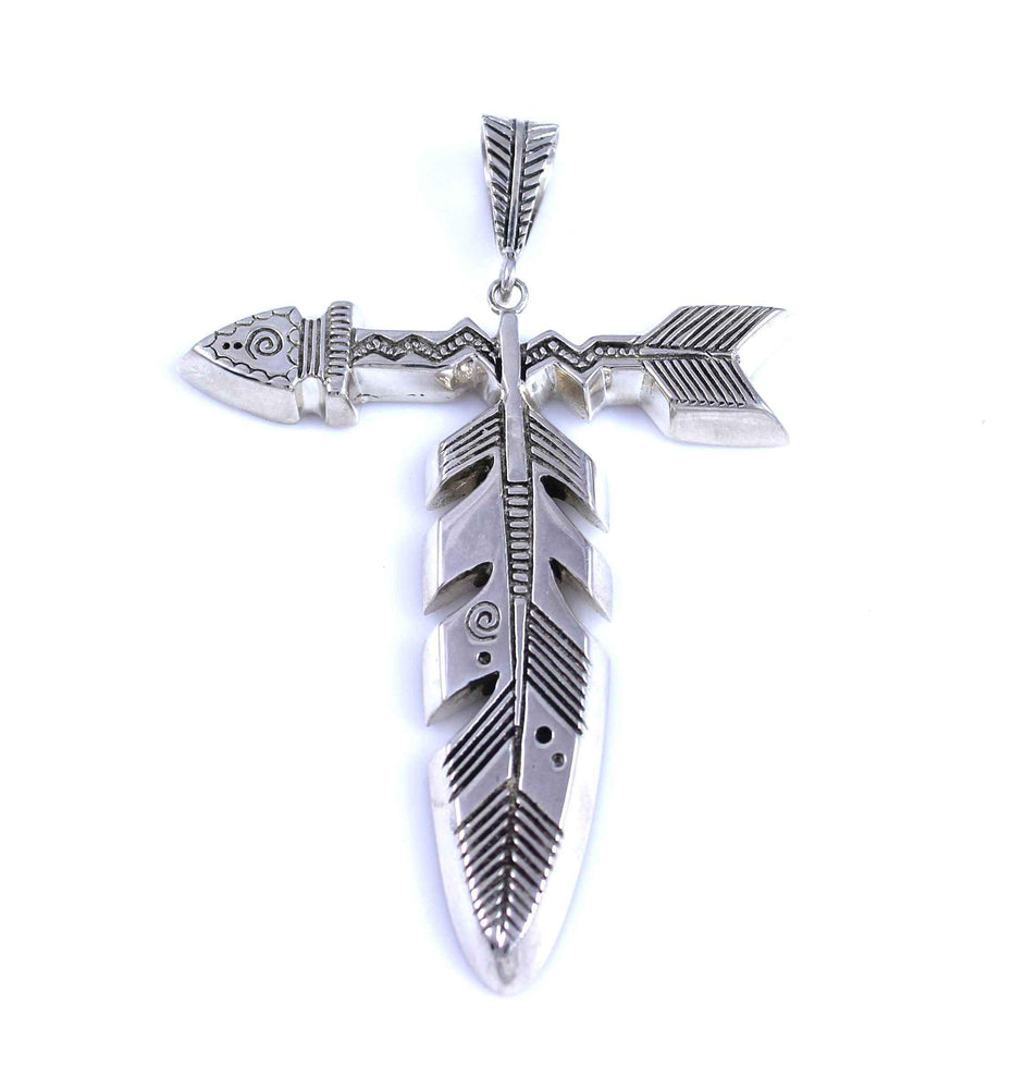 Lightning Arrow Feather Pendant