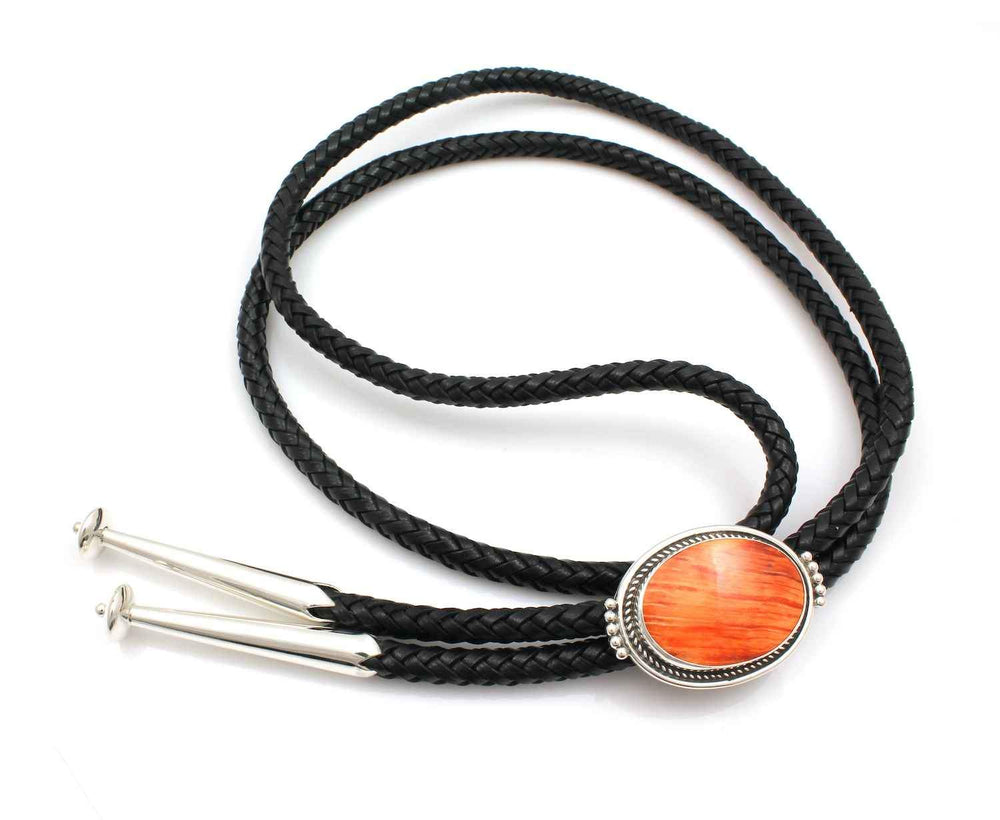 Orange Spiny Oyster Bolo Tie-Jewelry-Ray Tracey-Sorrel Sky Gallery