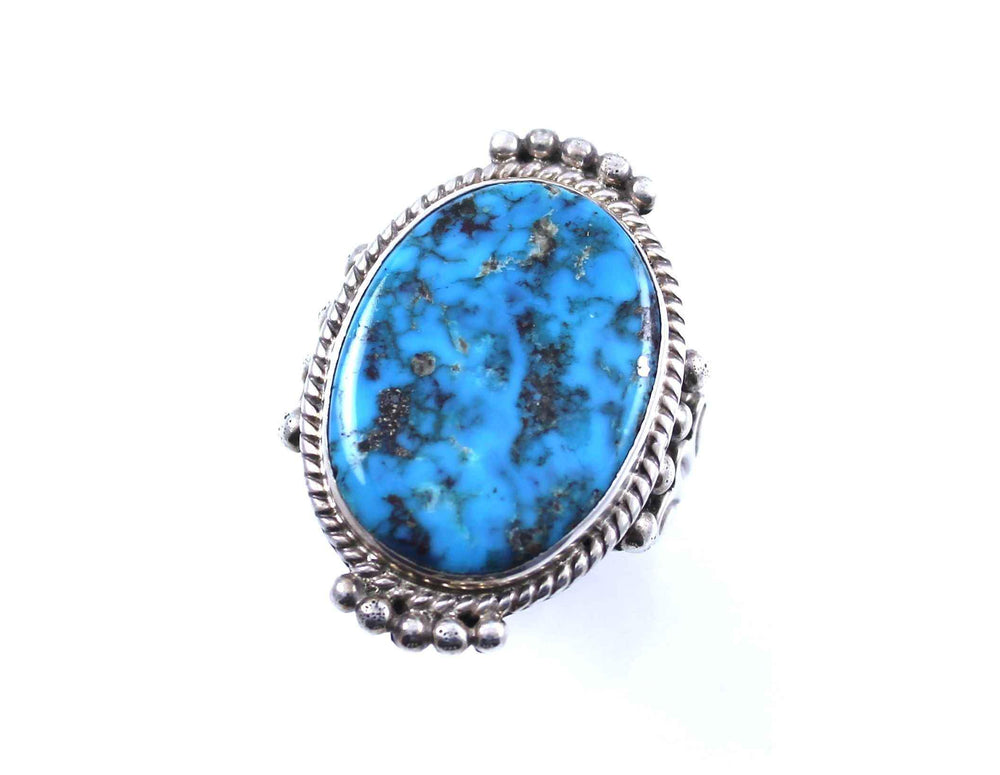 Oval Morenci Turquoise Ring