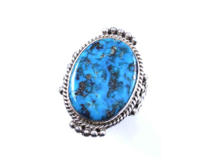 Ray Tracey-Oval Morenci Turquoise Ring-Sorrel Sky Gallery-Jewelry