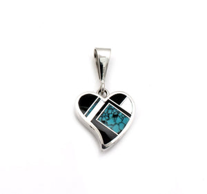 Reversible Heart Pendant-Jewelry-Ray Tracey-Sorrel Sky Gallery