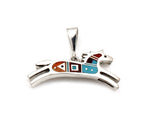 Reversible Inlay Horse Pendant