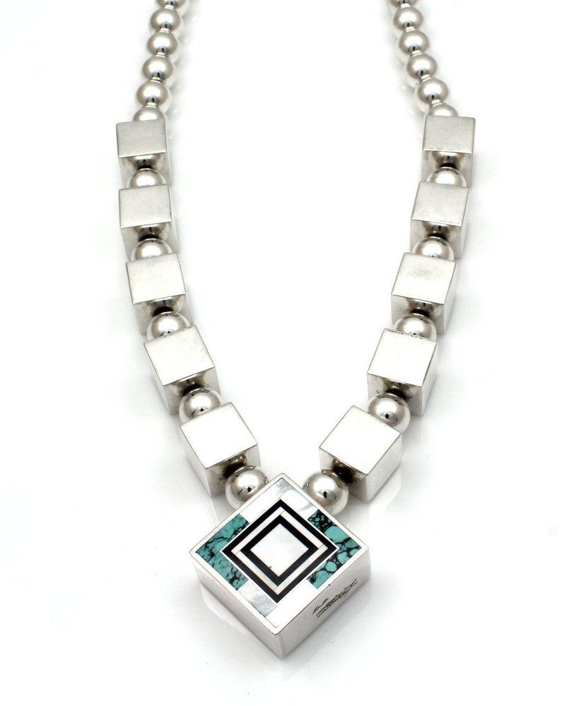 Reversible Inlay Necklace-Jewelry-Ray Tracey-Sorrel Sky Gallery