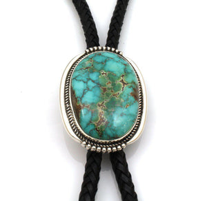 Royston Turquoise Cabochon Bolo Tie-Jewelry-Ray Tracey-Sorrel Sky Gallery