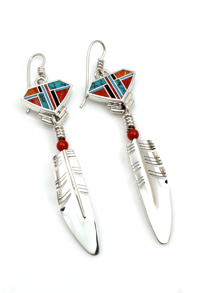Signature Shield Feather Earrings