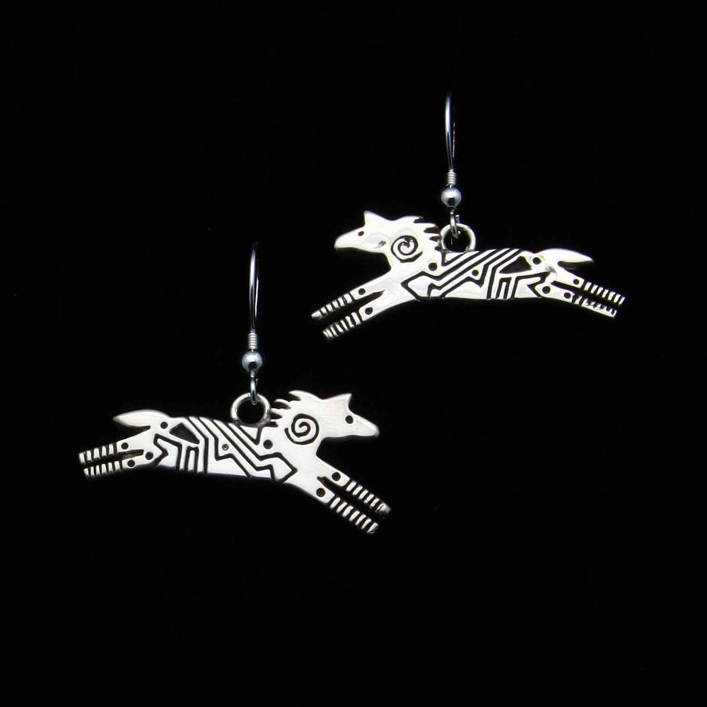Ray Tracey-Silver Horse Earrings-Sorrel Sky Gallery-Jewelry
