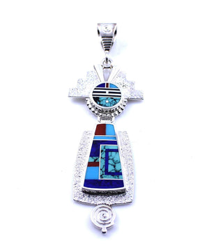 Ray Tracey-Small Inlay Yei Pendant-Sorrel Sky Gallery-Jewelry