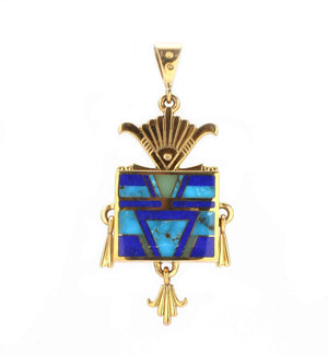 Ray Tracey-Square Yei Pendant-Sorrel Sky Gallery-Jewelry