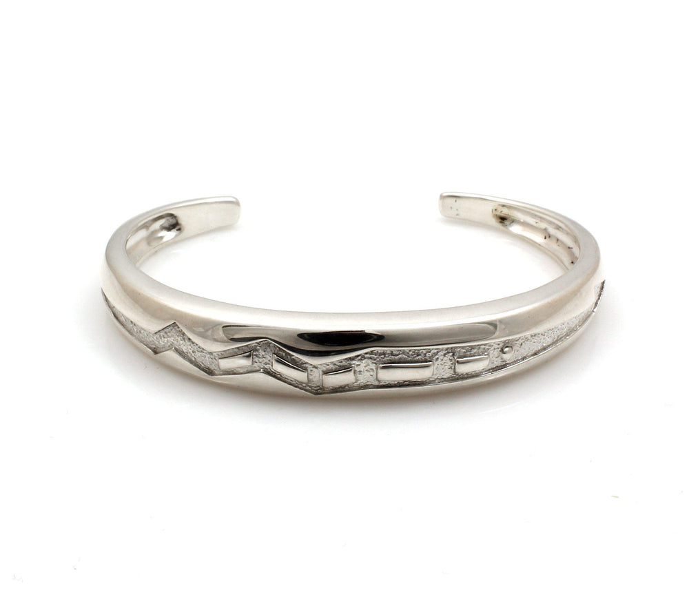 Sterling Silver Carved Cuff Bracelet