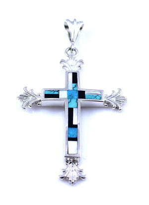 Ray Tracey-Sunburst Cross Pendant-Sorrel Sky Gallery-Jewelry