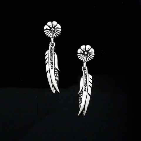 Sword, Feather And Corn Earrings