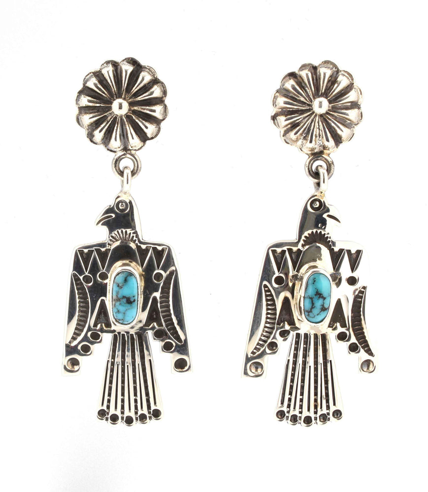 Thunderbird Earrings With Turquoise