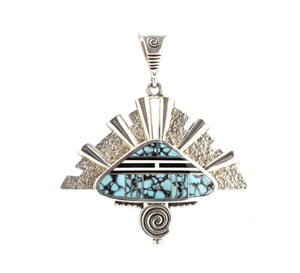 Ray Tracey-Triangle Headdress Pendant-Sorrel Sky Gallery-Jewelry